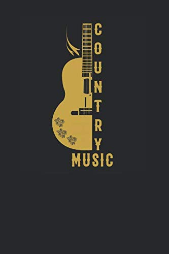 Country Music: Guitars Notebook, Blank Lined (6
