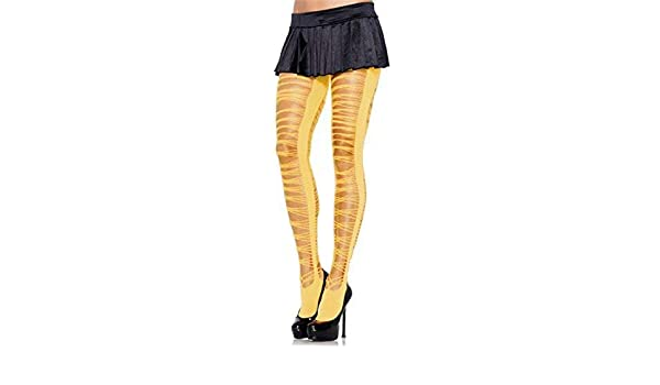 f2f2bc4a51782 Amazon.com : Ladies Neon Yellow Pink Shredded Criss Cross Ripped Sexy  Tights Fashion Lingerie Eighties Fancy Dress Accessory (Yellow) : Pet  Supplies
