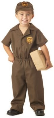 UPS Guy Toddler Costume - Toddler Large - Ups Man Costume