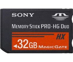 Sony 32 GB Memory Stick PRO-HG HX Duo Flash Memory Card MSHX32G (Black)