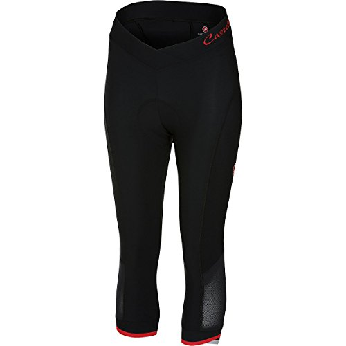 Castelli Women's Vista Cycling Knicker (Black/Red, Small) by Castelli (Image #1)