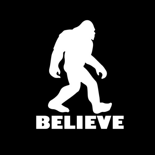 Believe Bigfoot Decal