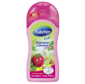 Bubchen Bü bchen Kids Shampoo & Shower Raspberry with Aloe Vera 7.78 fl. oz. (230ml)