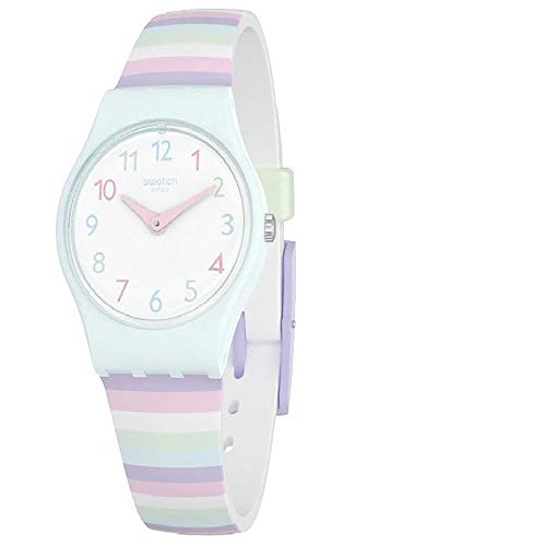 Swatch Pastep Dial Silicone Strap Ladies Watch LL121