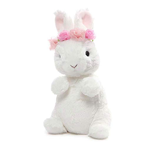 (GUND Dahlia Mini Stuffed Animal Bunny Rabbit Plush, White, 7.5