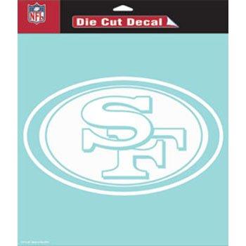 WinCraft NFL San Francisco 49ers Die-Cut Decal, 8