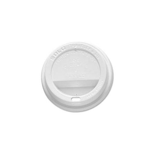 Solo OFTL31-0007 White Traveler Plastic Lid - For Solo Paper Hot Cups (Case of 300)