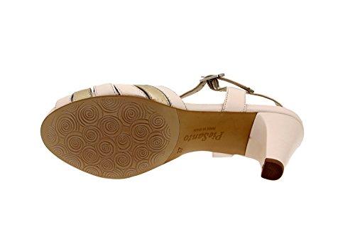 Calzado mujer confort de piel Piesanto 2262 sandalia vestir zapato cómodo ancho Hielo