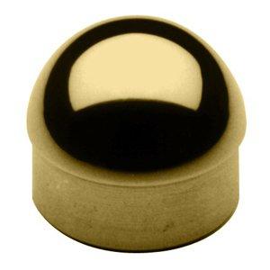 End Caps Handrail - Lavi Industries 00-602/2 Polished Brass Half Ball End Cap 2