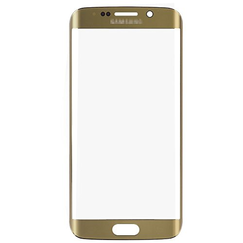 LUVSS New Sceen Glass [LCD Digitizer not Included] Replacement for Samsung Galaxy S6 Edge Plus G928A G928P G928T G928V G928R4 G928F Touch Screen Front Outer Glass Lens Panel Repair Part (Gold)
