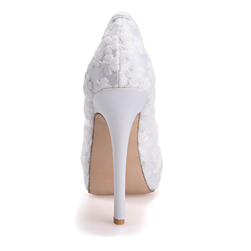Sera 32 Tallone Sposa Di Pompa Matrimonio Scarpe 3128 Fantastica Rosa toe Da Donne Peep Di Festa Delle Più qCFt1aw