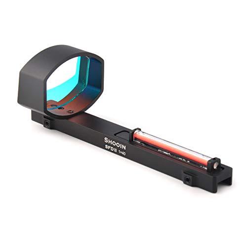 Amazon.com : 1X40 Optics Red Fiber Dot Sight Scope for Shotguns Rib Rail Base Mount Hunting : Sports & Outdoors