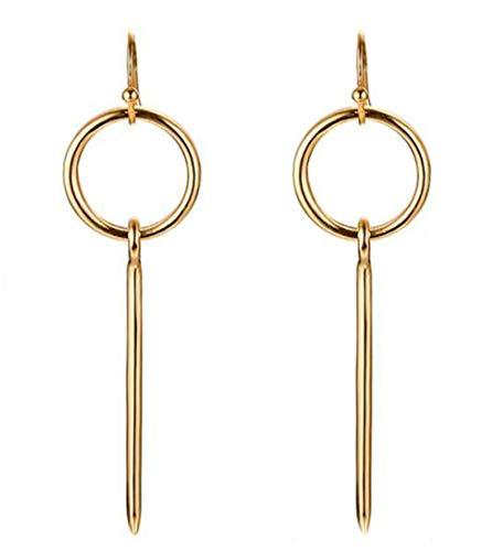 ANDANTINO Stainless Steel Earring- Women's Geometric Tassel Earring-Bar/Square Dangle Earring Stud Earring-Valentines Gift for Girls (Gold Ear Hook)