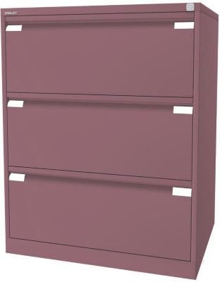 BISLEY Hängeregistraturschrank, 2-bahnig - 3 Schübe, DIN A4, pink ...