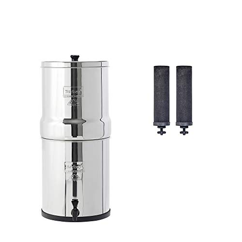 Big Berkey Gravity-Fed Water Filter with 2 Black Berkey Purification Elements