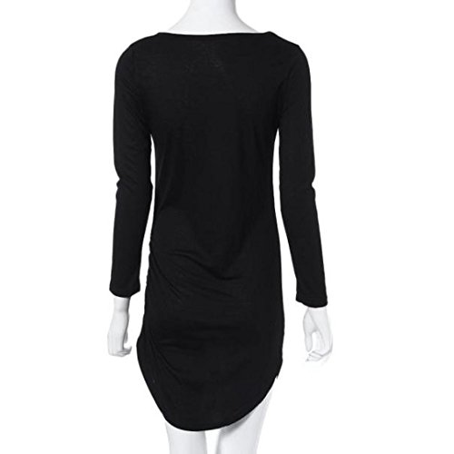 Sleeve Mini Ladies Womens Long Dress Bodycon Black Dress Evening Party Alonea StqF8S