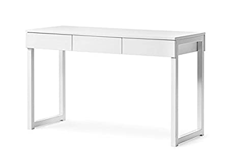 Aprodz Mango Wood Morevan Office Desk and Study Table for Living Room | White Finish