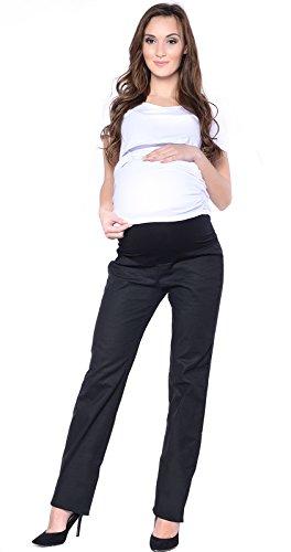 Mija - Pantalon de maternité / Jeans classique coupe droite Denim Over Bump 3014 (EU 44, Noir)