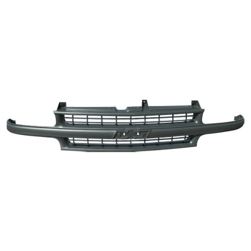 (CarPartsDepot, Replacement Front Grille Grill New Primed Gray Frame Bar Molding ABS Unpainted, 400-15426 GM1200490 12335634)