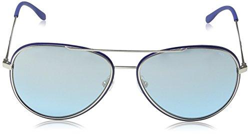 de Police Aqua Mirror Frame Gafas Blue Lens amp; S8299 Glory Matt Semi Palladium sol Aviador fqTHqw