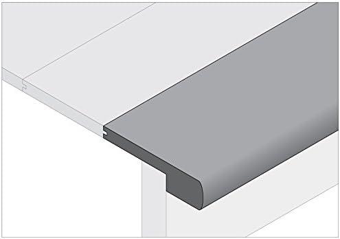 Moldings Online 2004696154 96インチ x 5.5インチ x 0.69インチ 未仕上げホワイトオーク階段ノーズ。