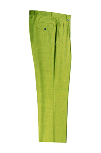 Tiglio Tea Green Wide Leg, Pure Wool Dress Pants 876601/4107