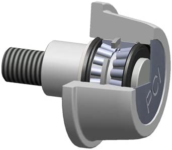 1.6875 in Roller Width Channel /& I-Beam PCI Procal Inc CIRE-4.00E Flanged Cam Follower 3.5625 in Roller Dia
