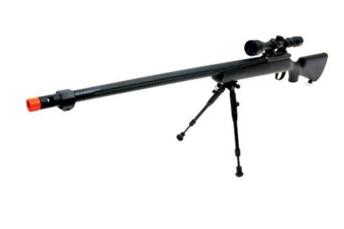 510 fps wellfire vsr-10 urban combat full metal bolt action sniper rifle w/ 3-9x40 scope & bipod package(Airsoft - Sniper Rifle Metal
