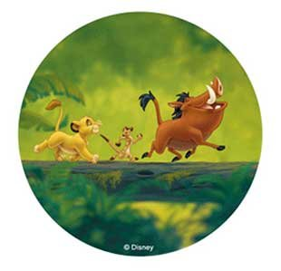 DISNEY THE LION KING CAKE TOPPER 21 CM EDIBLE WAFER RICE IV PAPER CUP