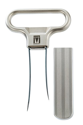 Monopol Westmark Germany Steel Two-Prong Cork Puller with Cover (Silver Satin) - Corkscrew Puller