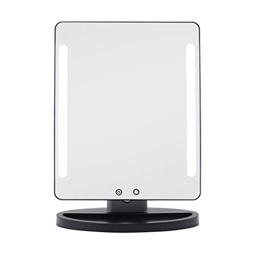 SZPZC Magnifying Tool Makeup Mirror Magnifying Glass 22-inch Makeup Mirror with Light Explosion-Proof Glass Mirror Makeup Mirror Silver Microscope ()