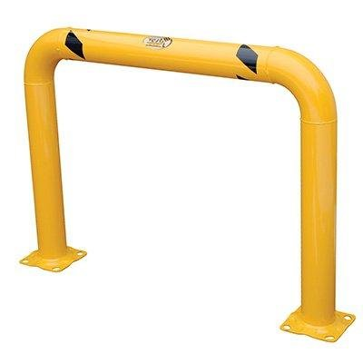 Vestil HPRO-48-36-4 Yellow Powder Coat High Profile Machinery Guard, Welded Steel, 4-1/2'' OD, 48'' Length, 36'' Height