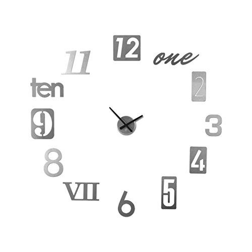 Umbra Numbra Wall Clock, Aluminum wall clock - large metal wall clock