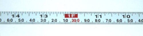 "Metal Adhesive Backed Ruler – 1/2 Inch Wide X 3.6 Meters (12 Feet) Long – Right to Left – Fractional/Metric – 1/16"" and 1mm Grads (4' Metric Ruler)"