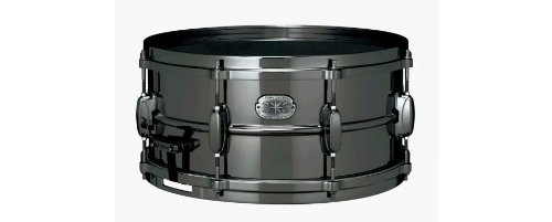 Tama Metalworks Nickel-Plated Black Steel Snare Drum Black 6.5x14 by Tama