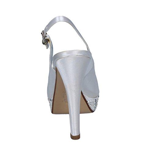 Satin Blanc Femme Sandales De Toi Bacta pwzxqXIg