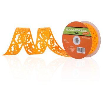 Orange Pumpkin Felt Ribbon -