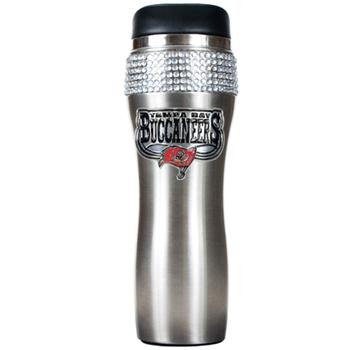 NFL Tampa Bay Buccaneers 16-Ounce Stainless Steel Bling Tumbler