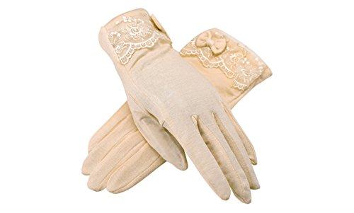 formanism シンプル レース リボンポイント 上品 UV 紫外線防止 サマー手袋 レディース