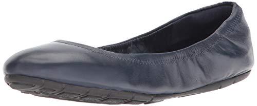 Cole Haan Women's Zerogrand Ballet II Flat, Blazer Blue Leather, 6 B US