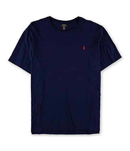 - Polo Ralph Lauren Men's Custom-Fit Cotton Jersey T-Shirt, French Navy (Medium)