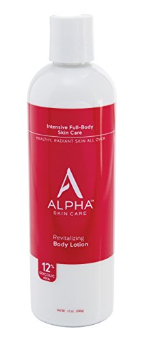 Alpha Skin Care Revitalizing Body Lotion with 12% Glycolic AHA, 12 Ounce