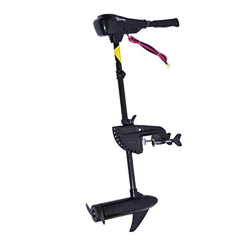 Outsunny 12v transom mounted thrust electric fishing boat for Electric outboard boat motors reviews