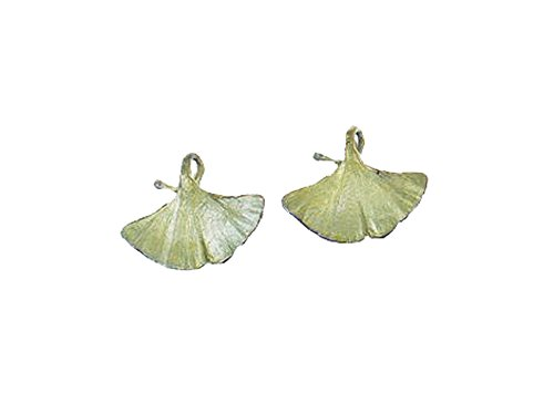 ''Ginkgo'' Clip Earrings by Michael Michaud for Silver Seasons… by Michael Michaud