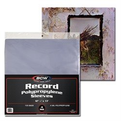 BCW Supplies 4 Mil Record Sleeves (100 Count Pack) from BCW