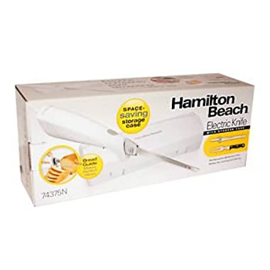 Hamilton Beach 74375N Electric Knife with Storage Case, White