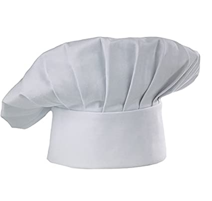 Aurum Creations Cotton White Chef Cap Hat Cook Cap Restaurant Cap