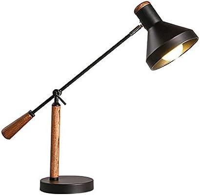 Protección de los Ojos lámpara de Mesa Retro de Madera sólida ...