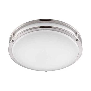 led semi flush mount ceiling lights light brushed nickel white lens canada australia