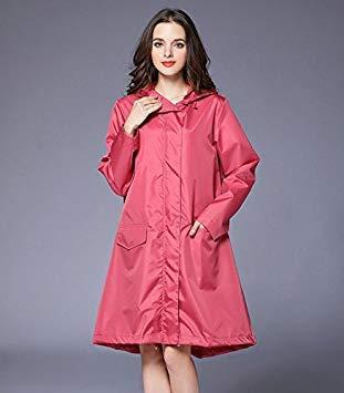 modern design great look wide varieties Pink : Waterproof Women Long Rain Coat Impermeable Tch Coat ...